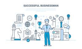 Erfolg bei der Arbeit, Kommunikation und Umgang, Führung, Karrierewachstum stock abbildung
