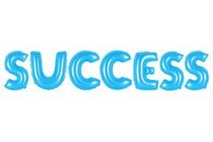 Erfolg, blaue Farbe Stockfoto