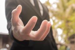 Erfolg in der Hand Stockfotos