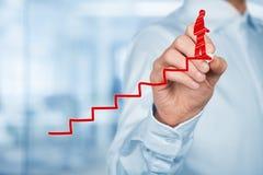 Erfolg in der Karriere Lizenzfreies Stockfoto