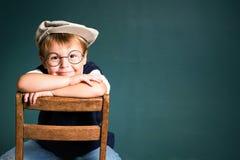 Erfolg des Schulejungen lizenzfreies stockbild