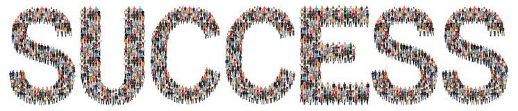 Erfolg erfolgreich an der Arbeitsjobkarriere-Führungsstrategie multi stockbild