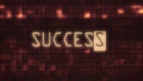 Erfolg fasst Schreibenschreiben des Textes auf alter Rohrfernsehbildschirmanzeigedarstellungshintergrundblinkenanimation des Stör lizenzfreie abbildung
