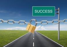 Erfolg geblockt Stockbild