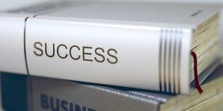 Erfolg - Geschäfts-Buch-Titel 3d Stockfotos