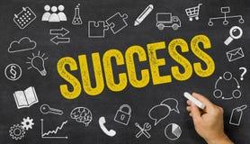 Erfolg geschrieben auf eine Tafel Lizenzfreie Stockfotos