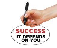 Erfolg, hängt es von Ihnen ab Lizenzfreies Stockbild