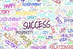 Erfolg, Illustrationen des positiven Gefühlwortes bewölken sich Effekt, Skizze, kreativ u. abstrakt lizenzfreie abbildung