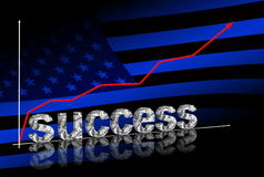 Erfolg im Geschäft Stockfotografie