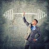 Erfolg im Geschäft Stockbild