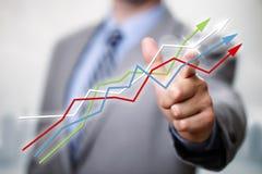 Erfolg im Geschäft Stockfoto