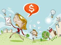 Erfolg im Geschäft mit Profit lizenzfreie abbildung