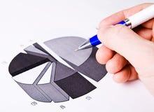 Erfolg im Geschäftskonzept - Finanzreport Lizenzfreie Stockbilder