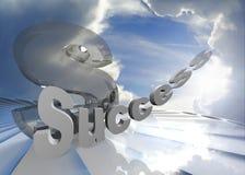 Erfolg im Himmel Stockbild