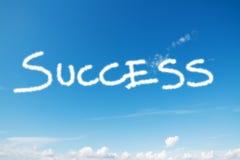 Erfolg im Himmel stockfoto