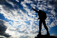 Erfolg im Sonnenaufgang Stockbilder