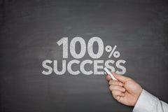 Erfolg mit 100 Prozentsätzen Stockbild