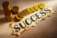 Erfolg und Geld lizenzfreies stockfoto