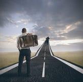 Erfolg und Karriere eines Geschäftsmannes Lizenzfreie Stockbilder