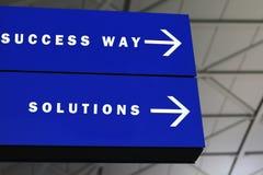 Erfolg und Lösungen Stockbild