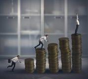Erfolg und Wettbewerb Stockfotografie