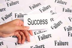 Erfolg unter Störung Stockbild