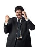 Erfolgreich am Telefon lizenzfreie stockfotos