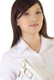Erfolgreiche asiatische Geschäftsfrau stockbild