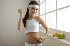 Erfolgreiche Diät! Lizenzfreies Stockfoto
