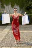 Erfolgreiche Einkaufen-Reise stockfotos