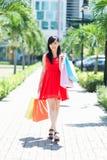 Erfolgreiche Einkaufenjagd Stockfoto