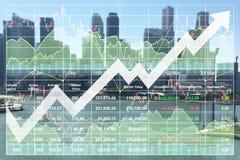 Erfolgreiche Finanzinvestition des Geschäfts in den Immobilien und im Ausflug lizenzfreie abbildung