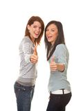 Erfolgreiche Freundinnen nehmen mich bei fünf Lizenzfreies Stockbild