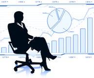 Erfolgreiche Geschäftsdame im Stuhl Stockbilder