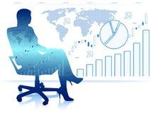Erfolgreiche Geschäftsdame im Stuhl Stockfotos