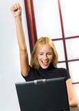 Erfolgreiche Geschäftsfrau Stockfoto