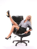Erfolgreiche Geschäftsfrau stockbilder