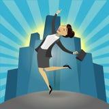 Erfolgreiche Geschäftsfrau Stockbild