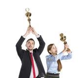 Erfolgreiche Geschäftskollegen Stockbild