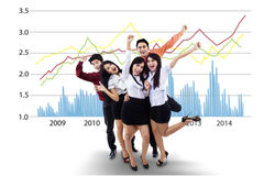 Erfolgreiche Geschäftsleute Lizenzfreie Stockfotografie