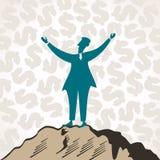 Erfolgreiche Geschäftsmänner feiern Erfolg Lizenzfreie Stockbilder