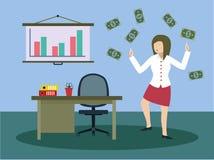 Erfolgreiche Geschäftsmänner mit großem Geld Lizenzfreies Stockbild