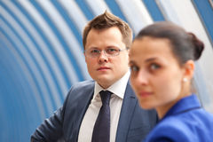 Erfolgreiche Geschäftspaare Lizenzfreies Stockfoto