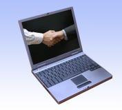 Erfolgreiche Geschäftssoftware lizenzfreie stockfotos