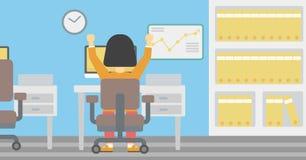 Erfolgreiche Geschäftsfrau-Vektorillustration Lizenzfreie Stockbilder