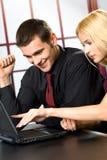 Erfolgreiche Geschäftsleute Stockfotos