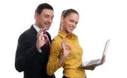 Erfolgreiche Geschäftspaare Stockbilder