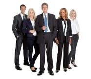 Erfolgreiche Geschäftsteamstellung Lizenzfreie Stockbilder