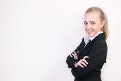 Erfolgreiche junge Geschäftsfrau lizenzfreie stockfotos