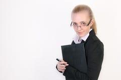 Erfolgreiche junge Geschäftsfrau lizenzfreies stockfoto